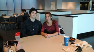 Mark Faerchuk and Sarah Aboura, Stony Brook University students.