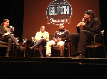 "Soledad O'Brien, Joan Morgan, Luis Paulino and Etan Thomas spoke on racism, police brutality and the future of what it means to be ""Black in America."""