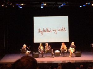"(Left to Right) Molly Crabapple, Art Spiegelman, Francoise Mouly, Emmanuele ""Manu"" Letouze"
