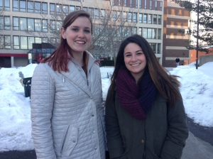 Eileen Corrado, left, and Shannah Ferrante, right, both prefer summer fashion to winter fashion.