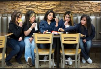 """""""From left, Maleena Dennison, Maquila Dennison, Myrha Dennison, Sammantha Dennison and María Silva, Nampa, Idaho"""" Credit: Nolan Conway"""