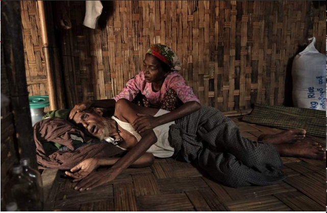 Abdul Kadir, 65, suffers from a stomach ailment and malnutrition. Photo by James Nachtwey.