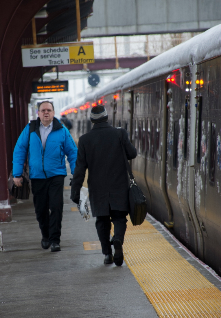 """Frank Calderon moved to Long Island from Queens in 2009. When he lived in one of New York's most populated boroughs, Calderon thought his daily commute on the Long Island Railroad was going to be a lot like his previous journey on Metro-North, but that was not the case, he said. """"I came here and I assumed the LIRR was a pretty stable and reliable transportation, but that is not the case,"""" Calderon said. """"I never experienced a railroad with so many delays."""" Calderon, an IT-worker at a financial-services firm, refused to be photographed because of strict company-media relation policies. Photo by JD Allen (March 2, 2015)"""