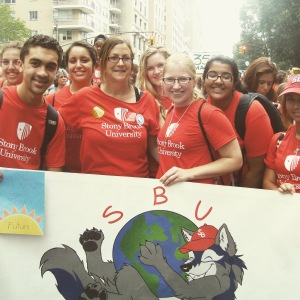 In September 2014, Stony Brook University students, accompanied by their professors, joined thousands of other young people on the streets of New York City in an effort to bring attention to the issue of global climate change.